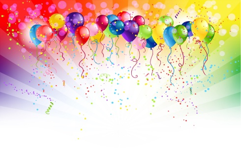 Multicoloured backgrund with balloons
